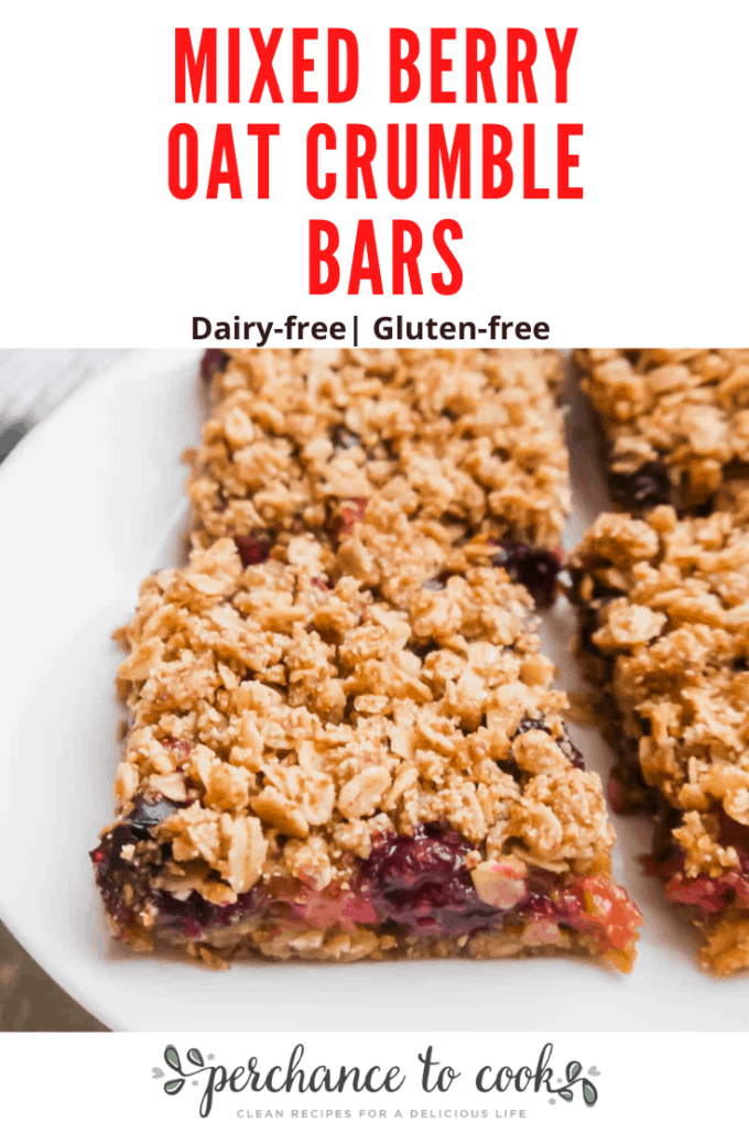 Oatmeal berry bars that taste like fruit pie sandwiched between oatmeal cookies. Made with healthier-for-you ingredients, like almond flour and coconut oil, and naturally gluten-free and dairy-free.