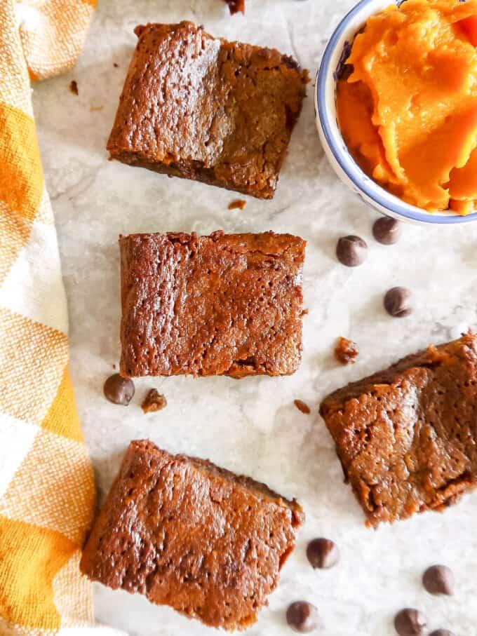 Gluten-free Chocolate Pumpkin Brownies (Paleo) | Perchance to Cook, www.perchancetocook.com