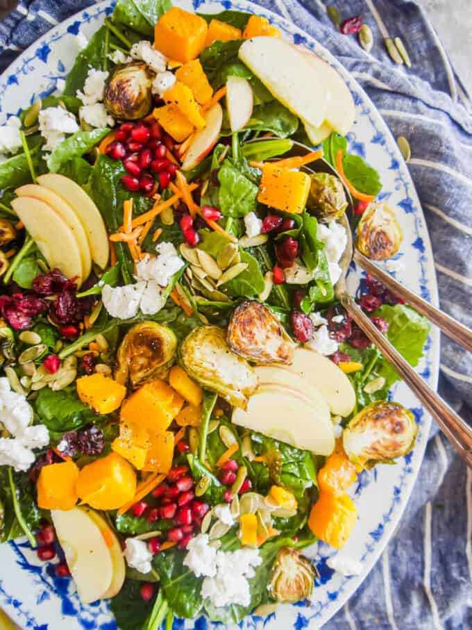 Easy Fall Harvest Salad with Maple Vinaigrette | Perchance to Cook, www.perchancetocook.com