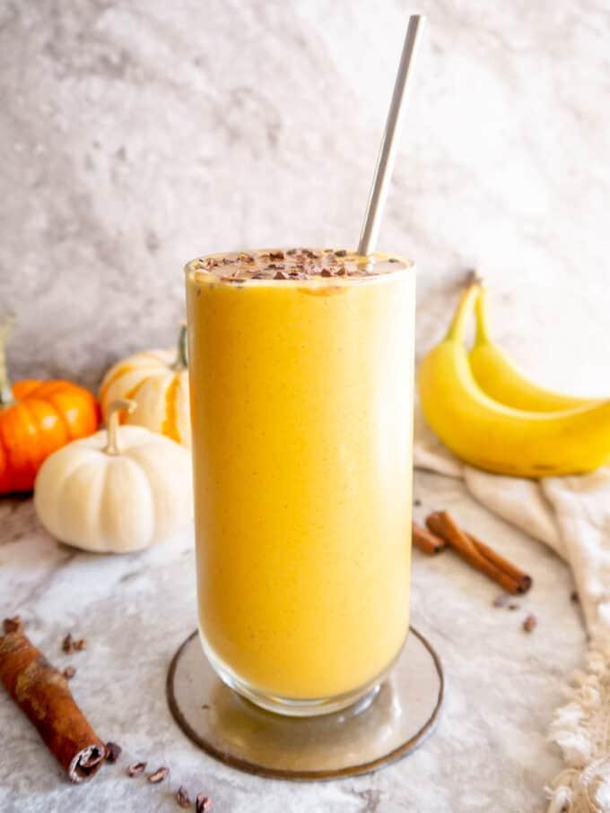 Pumpkin Banana Smoothie | Perchance to Cook, www.perchancetocook.com